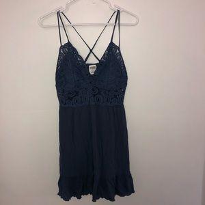 Victoria's Secret PINK Dusty Blue Lace Dress